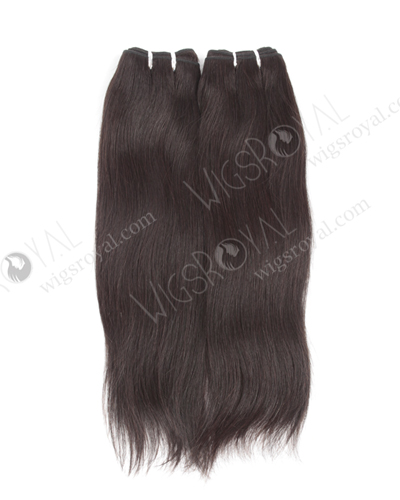 "In Stock Italian Virgin Hair 16"" Straight Natural Color Machine Weft SM-151"