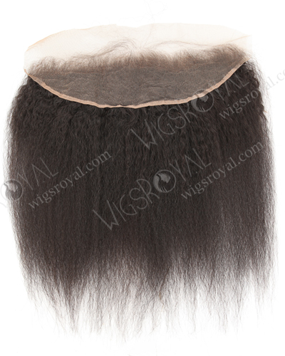 "In Stock Brazilian Virgni Hair 14"" Kinky Straight Natural Color Lace Frontal SKF-091"