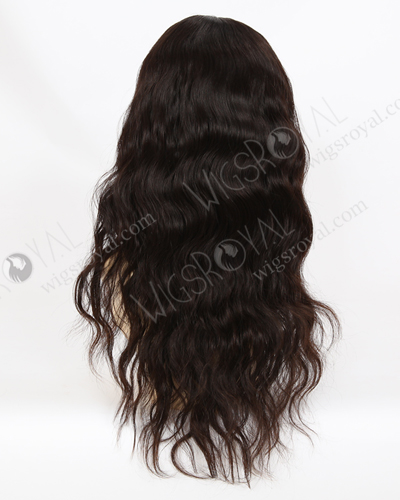 "In Stock Malaysian Virgin Hair 18"" Natural Straight Natural Color Glueless Silk Top Wig GL-03026"