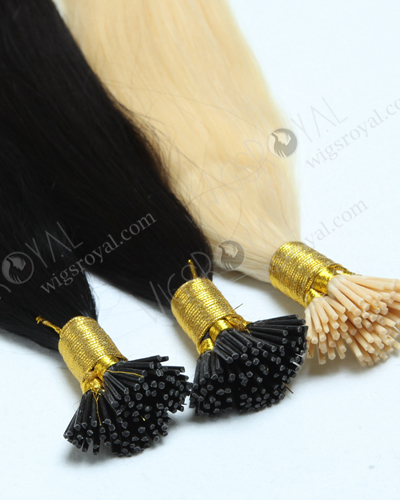 "I-tip hair extension Chinese virgin hair 18"" straight #2 color WR-PH-002"