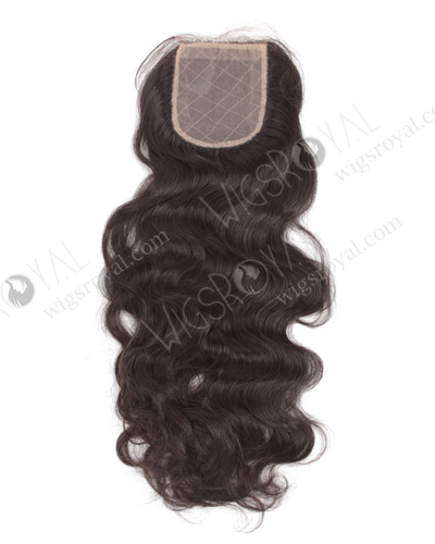 "In Stock Indian Remy Hair 18"" Natural Wave Natural Color Silk Top Closure STC-14"