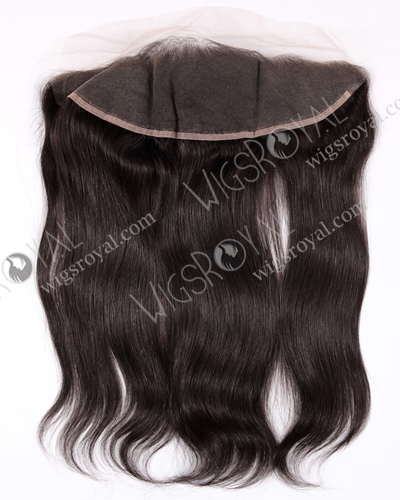 "In Stock Indian Remy Hair 16"" Straight Color 1b# Lace Frontal SKF-019"