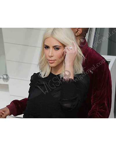 Platinum Blonde Hair Wigkim Kardashian Platinum Blonde Hair Wig Clb