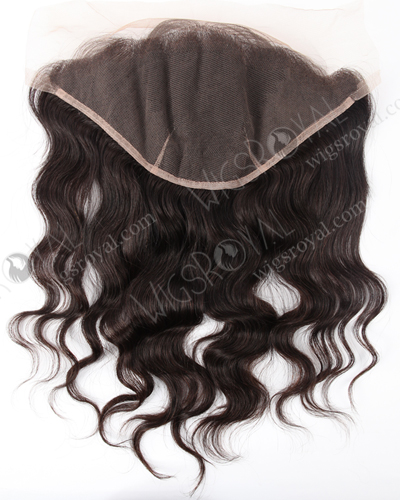 "In Stock Indian Virgin Hair 14"" Natural Straight Natural Color Lace Frontal SKF-021"