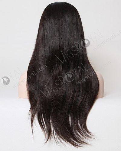 "In Stock Brazilian Virgin Hair 20"" Straight Natural Color Glueless Silk Top Wig GL-04037"