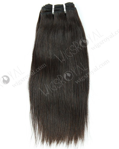 "In Stock Italian Virgin Hair 12"" Straight Natural Color Machine Weft SM-502"