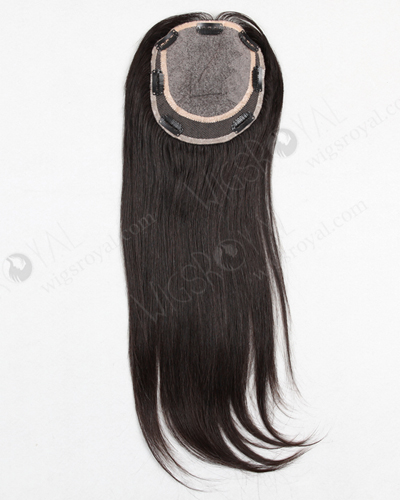 "In Stock 5.5""*6"" Indian Virgin Hair 16"" Straight Natural Color Silk Top Closure STC-235"