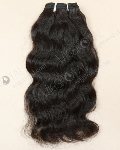"In Stock Indian Remy Hair 12"" Natural Wave Natural Color Machine Weft SM-044"