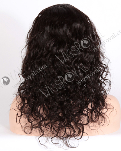 "In Stock Brazilian Virgin Hair 16"" Natural Curly Natural Color Glueless Wig GL-04005"