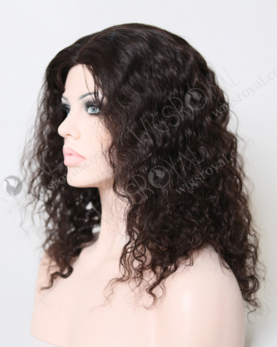 "In Stock Brazilian Virgin Hair 16"" Molado Curly Natural Color Glueless Wig GL-04031"