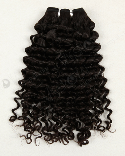 "In Stock Peruvian Virgin Hair 16"" Deep Wave Natural Color Machine Weft SM-635"