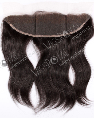 "In Stock Indian Remy Hair 14"" Straight Natural Color Lace Frontal SKF-001"