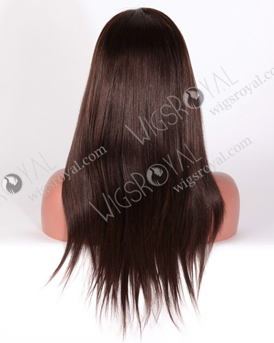 "In Stock Malaysian Virgin Hair 18"" Straight 2/4# Evenly Blended Color Glueless Wig GL-03010"