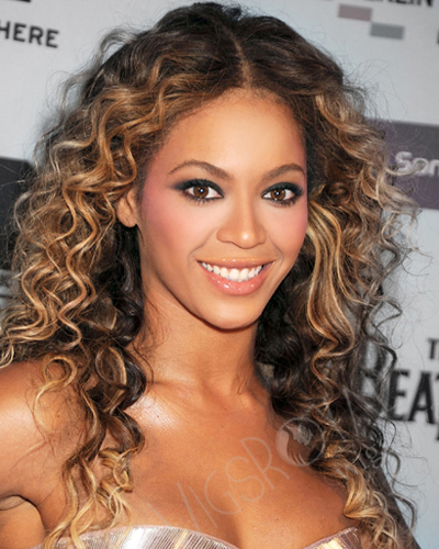 Beyonce Mix Color Curly Lace Wig CLB-C-021