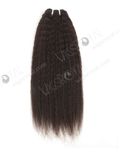 "In Stock Indian Virgin Hair 16"" Kinky Straight Natural Color Machine Weft SM-080"