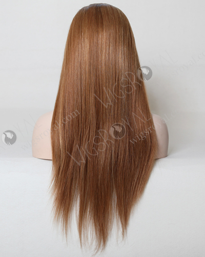 "In Stock European Virgin Hair 20"" Straight 10/25# Highlights Glueless Silk Top Wig GL-08005"