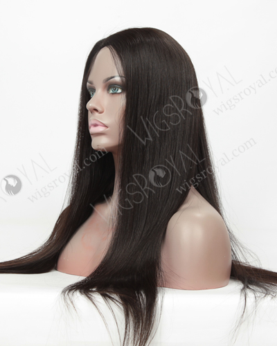 "In Stock Malaysian Virgin Hair 20"" Straight Natural Color Glueless Silk Top Wig GL-03023"