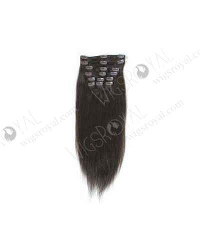 "Quality Chinese Virgin Hair 16"" Silky Straight Natural Color Clip on Weft WR-CW-003"