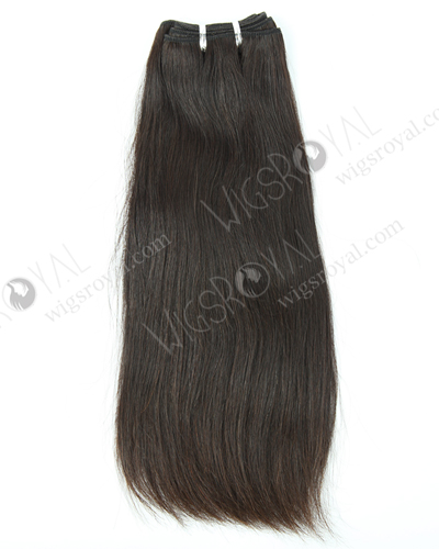 "In Stock Italian Virgin Hair 14"" Straight Natural Color Machine Weft SM-503"