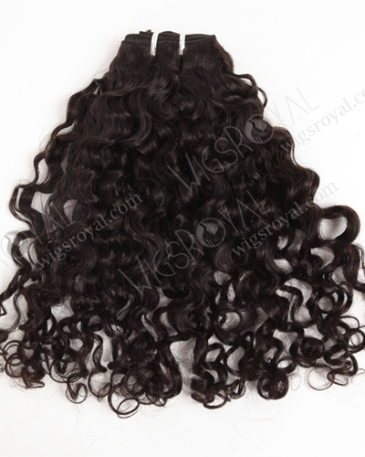 "In Stock Brazilian Virgin Hair 18"" Coarse Loose Curl Natural Color Machine Weft SM-4139"