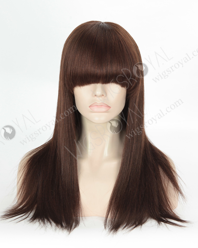 Light Yaki Evenly Blended 3#/4# Color Malaysian Virgin Hair Wigs WR-LW-155