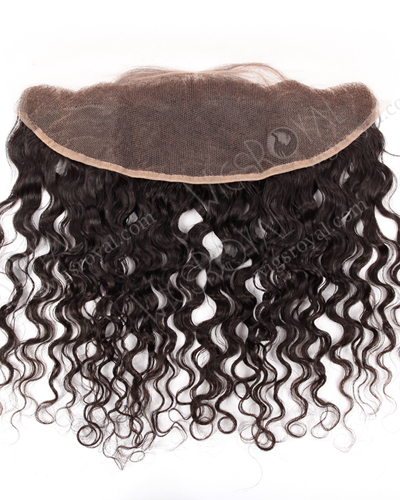 "In Stock Brazilian Virgni Hair 12"" Natural Curly Natural Color Lace Frontal SKF-072"