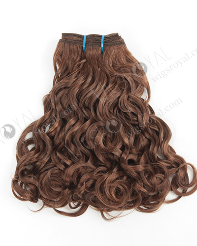 "In Stock Peruvian Virgin Hair 10"" Double Draw Looser Bouncy Curl 10/4# Evenly Blended Machine Weft SM-6117"