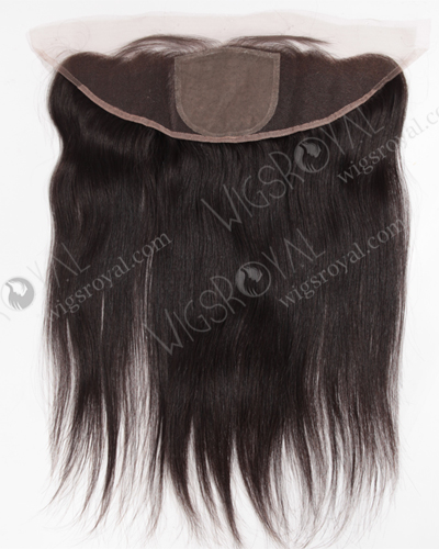 "In Stock Indian Remy Hair 16"" Straight Natural Color Silk Top Lace Frontal SKF-063"