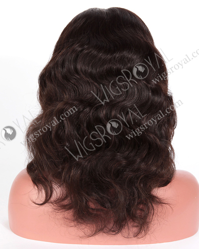 "In Stock Brazilian Virgin Hair 14"" Natural Wave Natural Color Full Lace Wig FLW-04013"