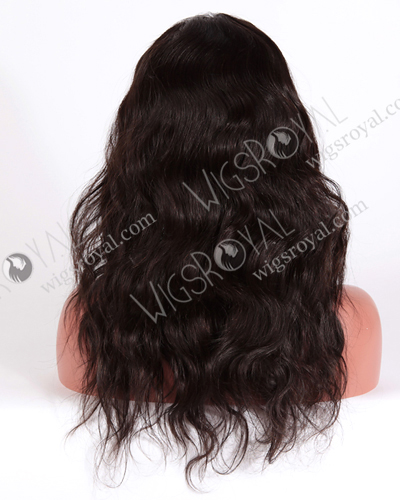 "In Stock Malaysian Virgin Hair 18"" Natural Straight Natural Color Glueless Wig GL-03005"