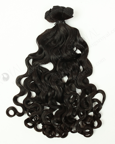 "In Stock Peruvian Virgin Hair 16"" Double Draw Peruvian Curl Natural Color Machine Weft SM-616"