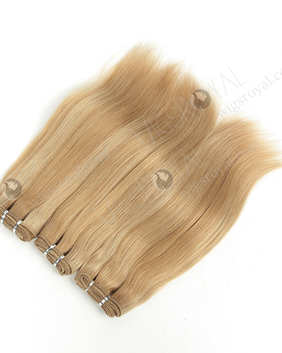 "Wholesale Price European Virgin 14"" 24# Highlight 18# Color Hair Weaves WR-MW-180"